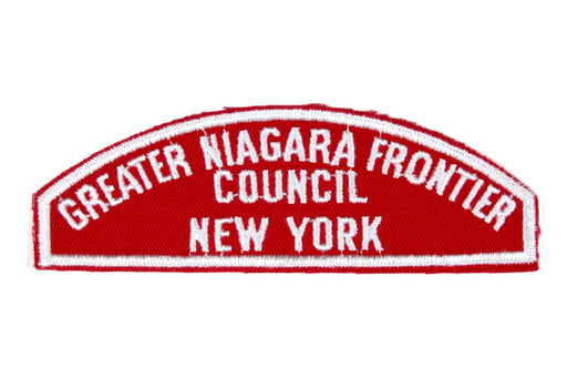 Greater Niagara Frontier Council Red and White Council Strip