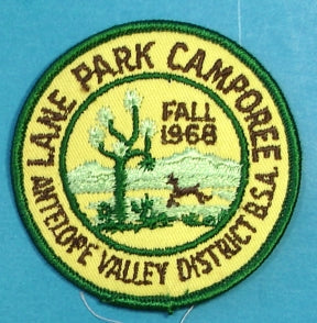 Antelope Valley District Patch 1968 Fall Camporee