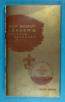1959-1960 Boy Scout Leader's Program Notebook