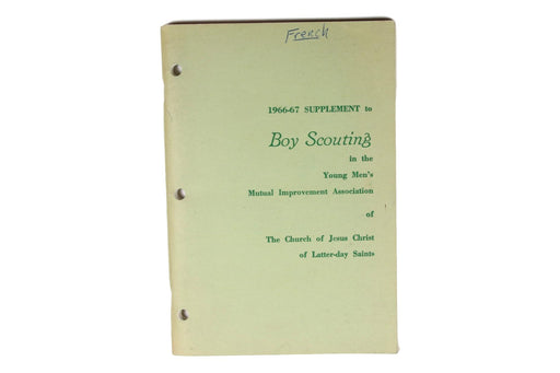 Boy Scouting n the LDS Church 1966-67 Supplement