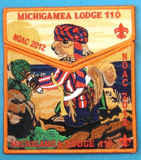 Lodge 110 Flap S-New 2012 NOAC Orange Border