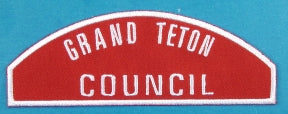 Grand Teton Red and White Council Strip