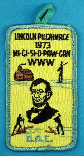 Lincoln Pilgrimmage 1973 Patch