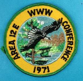 1971 Area 12E Conference Patch