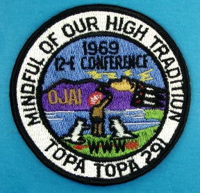 1969 Area 12E Conference Patch Topa Topa