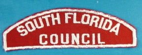 South Florida Council Red and White Type 2 Council Strip