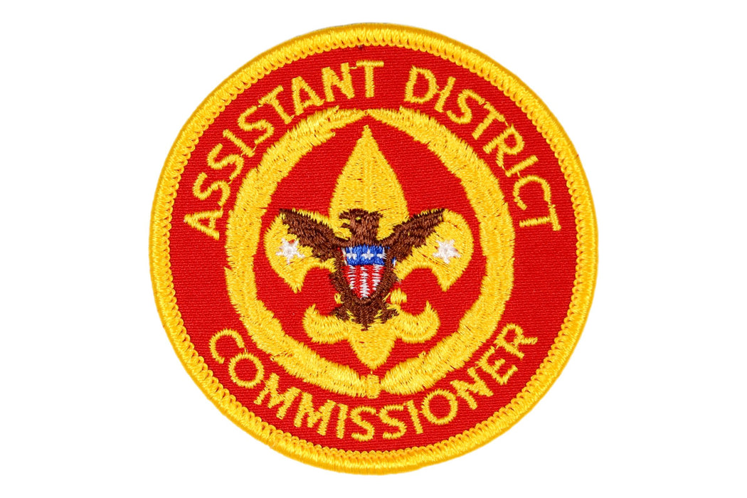 Assistant District Commissioner Patch 1970s Clear Plastic Back