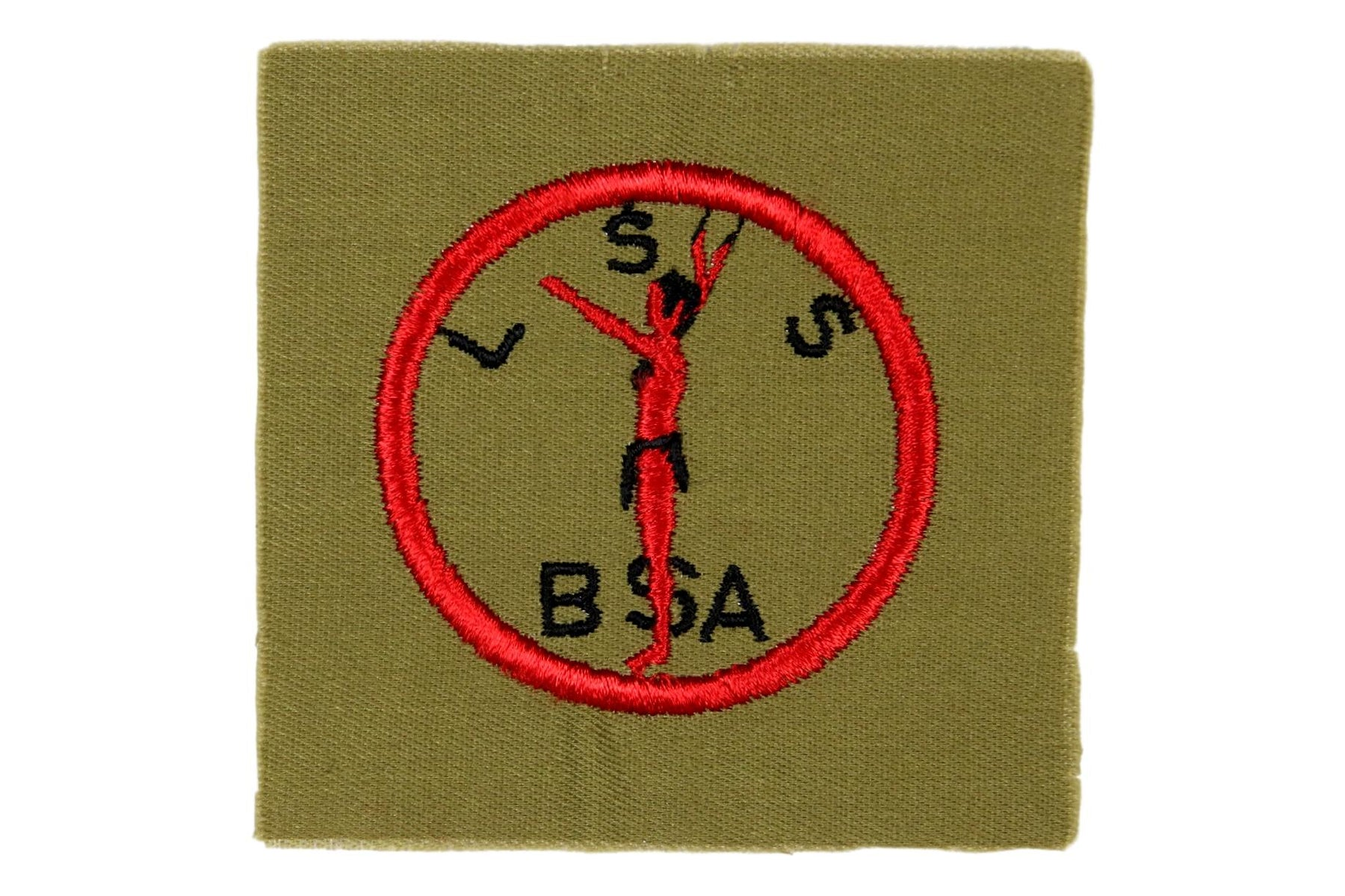 Lone Scout Patch on Khaki Square