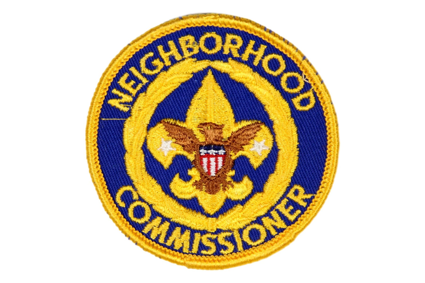 Neighborhood Commissioner Patch 1970 Plastic Back