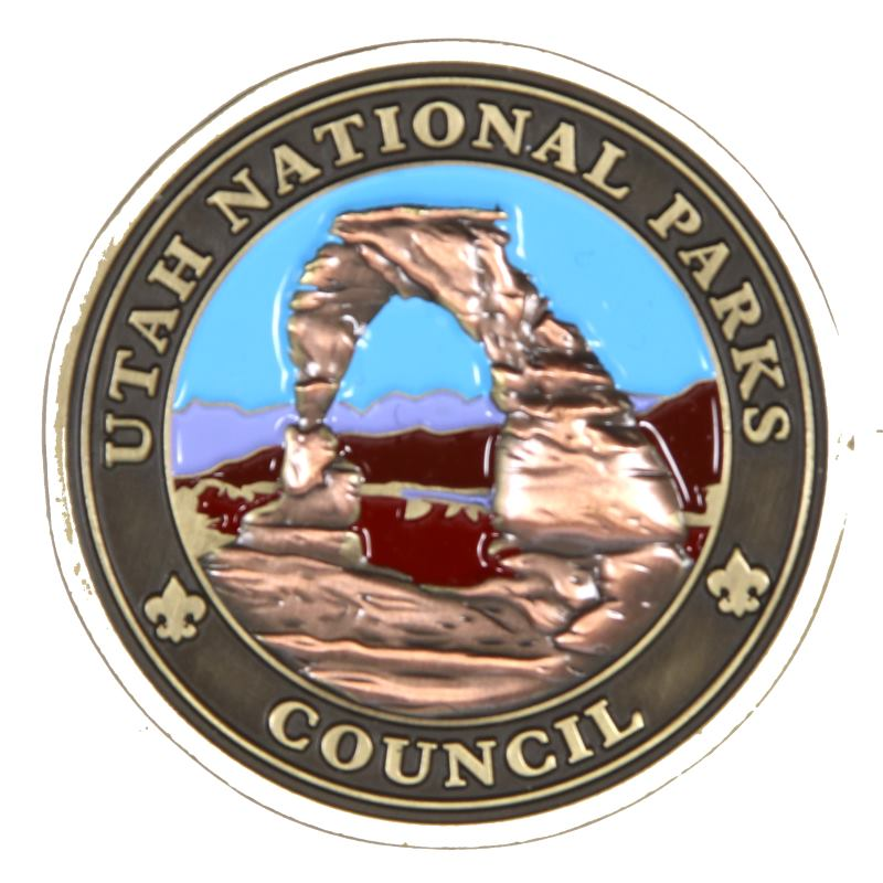 Utah National Parks Council Challenge Coin