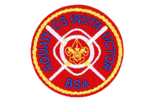 Aquatic Instructor Patch - Plastic Back