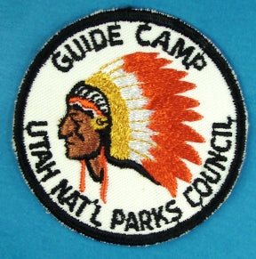 1963 Utah National Parks Guide Patrol Camp Patch