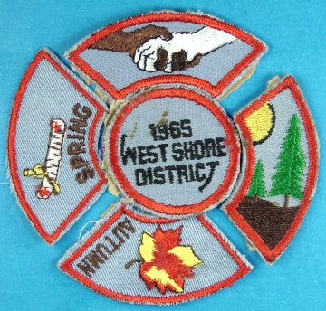 West Shore District 1965 Patch and Four Segments