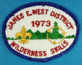 James E. West District 1973 Wilderness Skills Patch