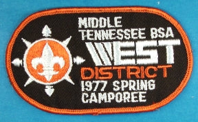 James E. West District 1977 Spring Camporee Patch