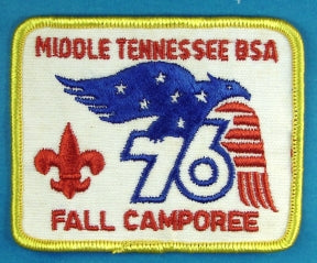 Middle Tennessee 1976 Fall Camporee Patch