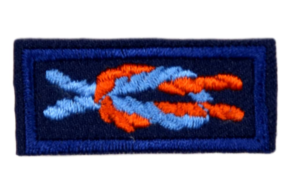 Ace Award Knot on Navy Blue