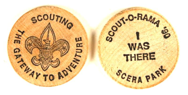 1990 Scout O Rama Wooden Nickel