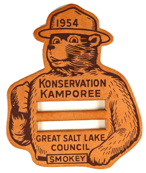 Great Salt Lake Konservation Kamporee Leather Patch 1954