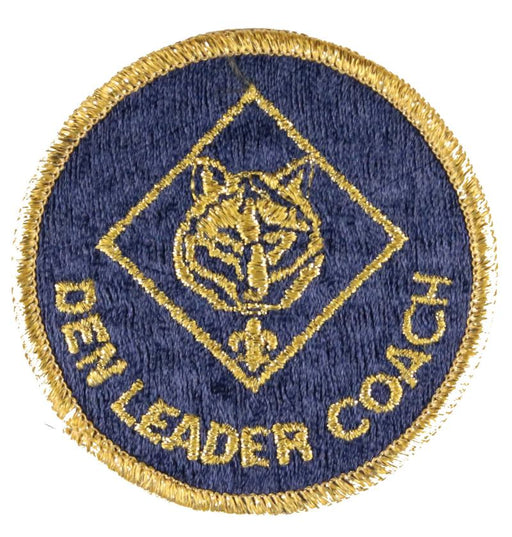 Den Leader Coach Patch 1980s Trained