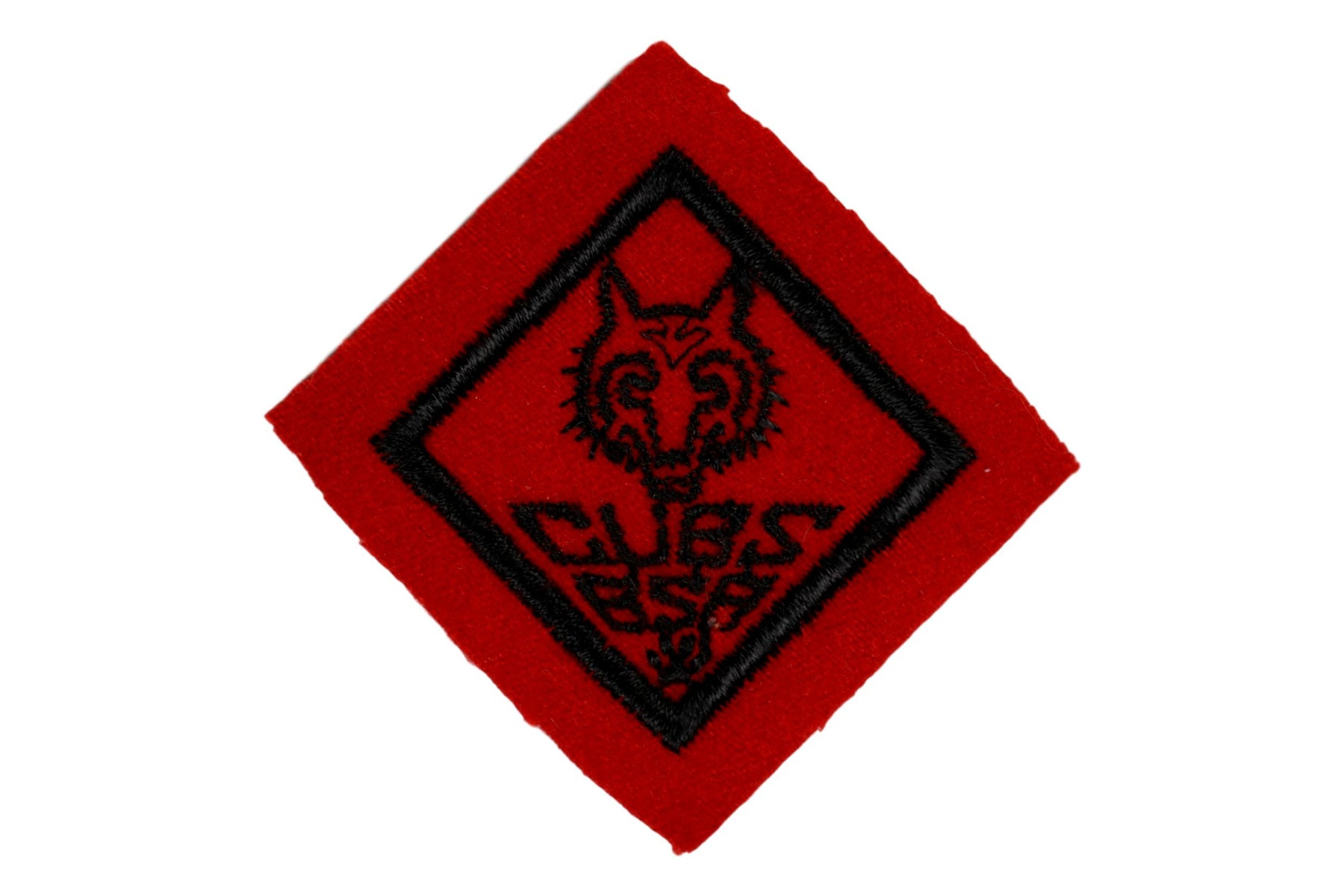 Wolf Rank Patch 1930s Felt Wide Border