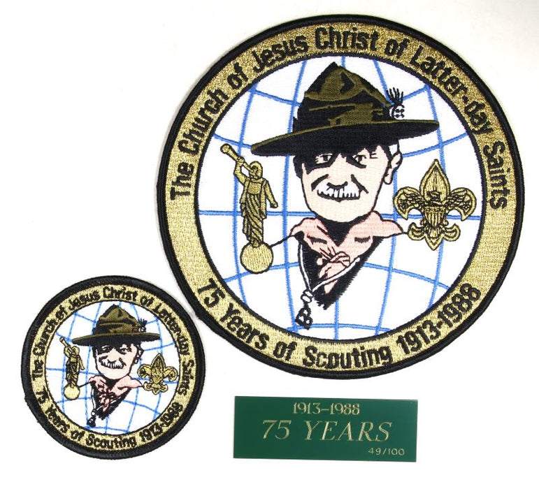 1988 LDS 75th Anniversary Special Edition Patch Set
