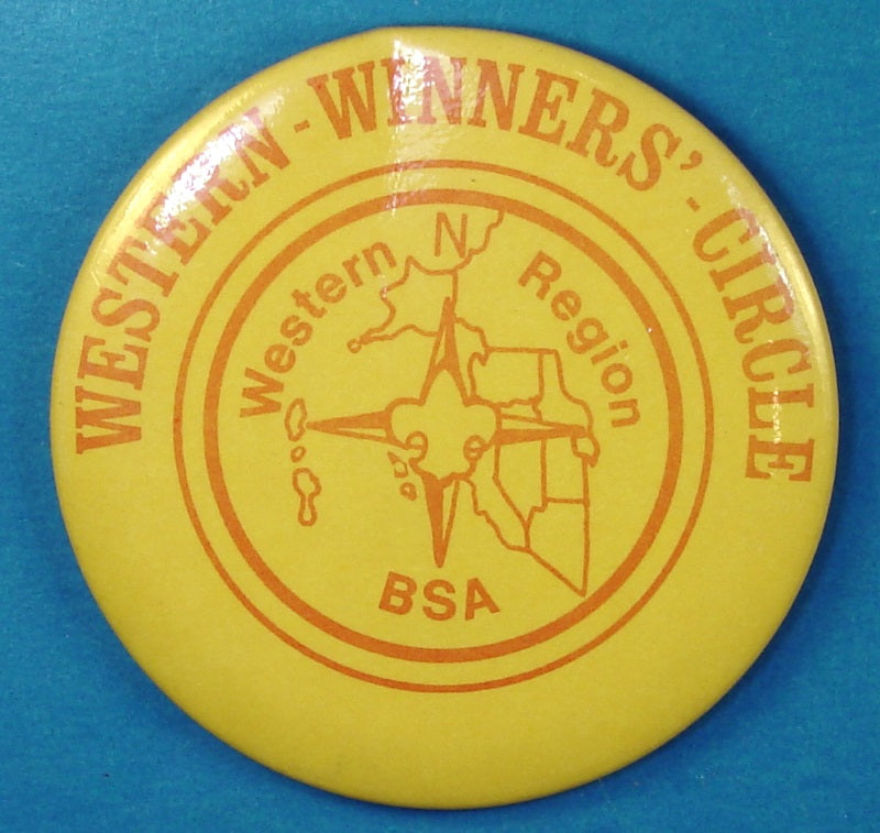 Western Region Winners' Circle Large Pinback