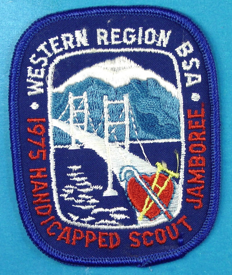 1975 Western Region Handicapped Scout Jamboree Patch