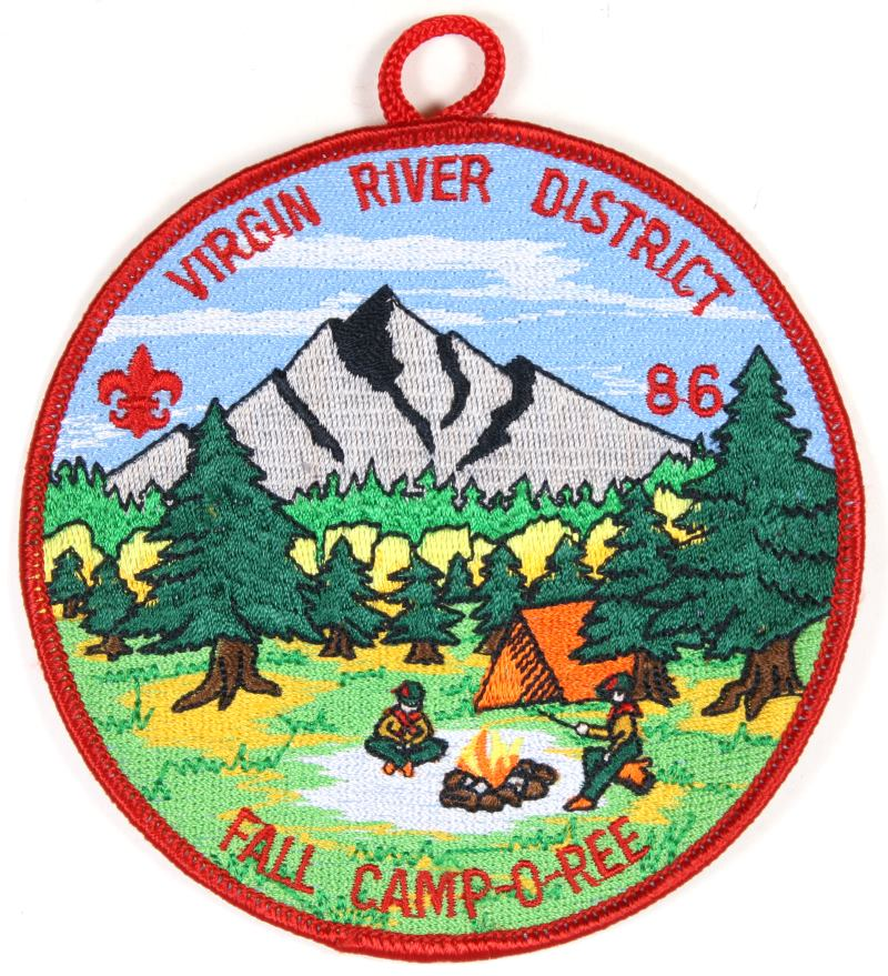 Virgin River Districe Patch 1986 Fall Camporee