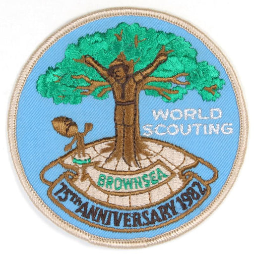 1982 Brownsea 75th Anniversary of World Scouting Patch