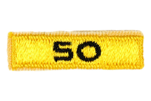 50 Year Veteran Unit Patch Gold with Number