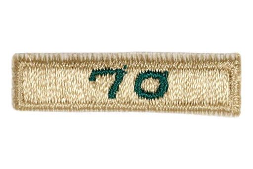 70 Year Veteran Unit Patch Gold