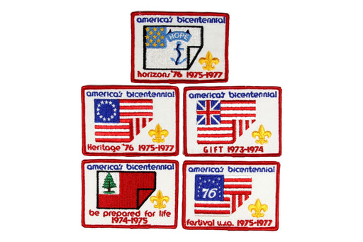 America's Bicentennial Patch Set