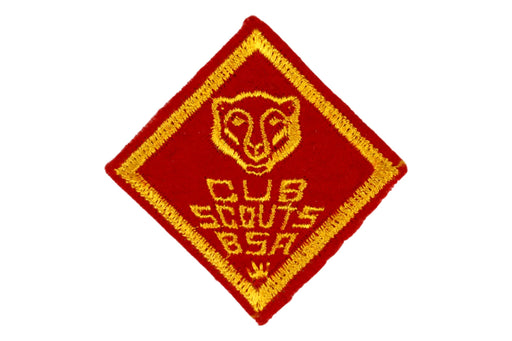 Bear Rank Patch 1940s - 1950s Felt