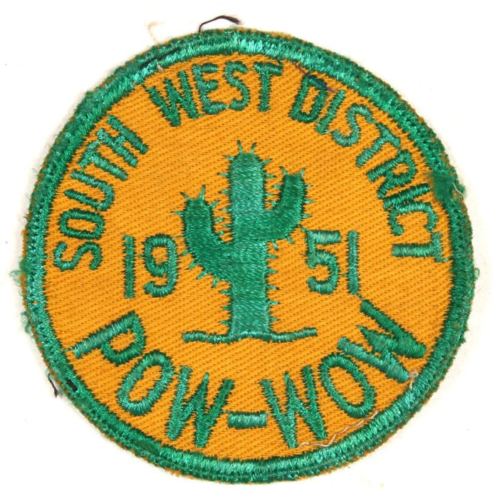 South West District Pow-Wow Patch 1951