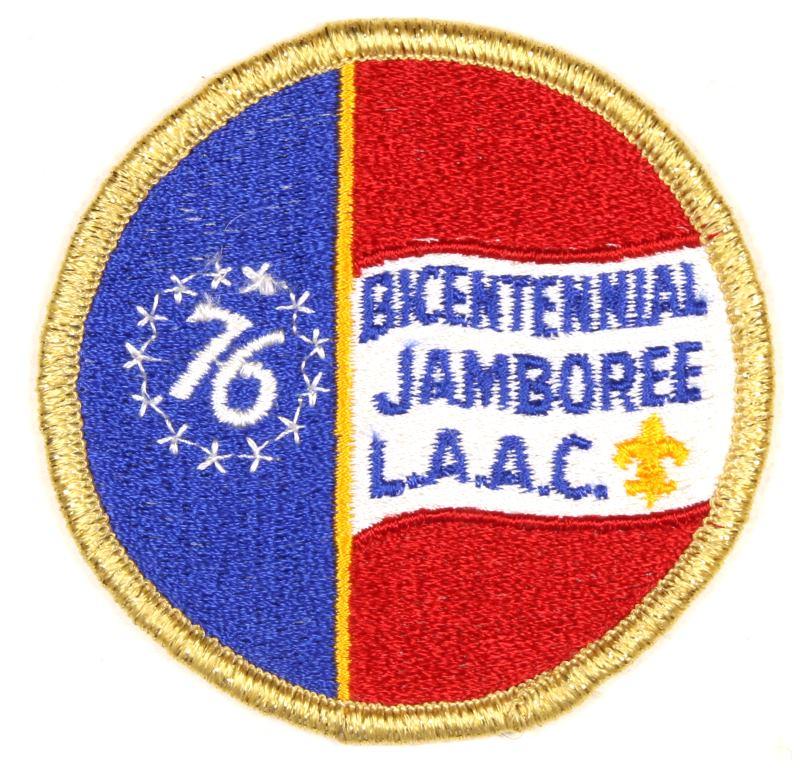Bicentennial Jamboree 1976 LAAC Patch