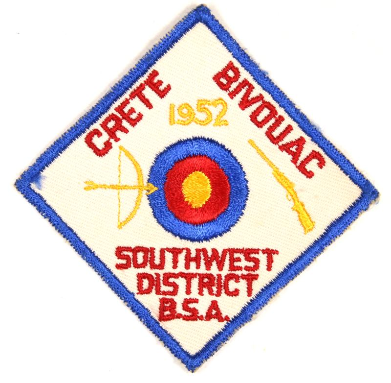 Southwest Districk Crete Bivouac Patch 1952