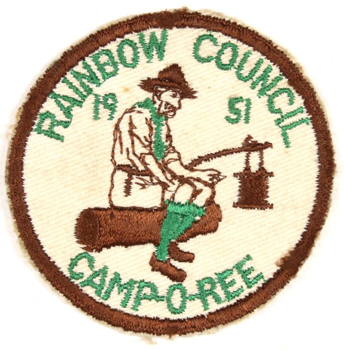 Rainbow Camp-O-Ree Patch 1951