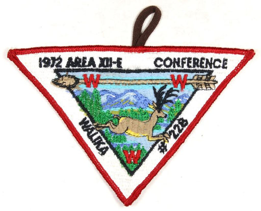 1972 Area 12E Secton Conference Patch