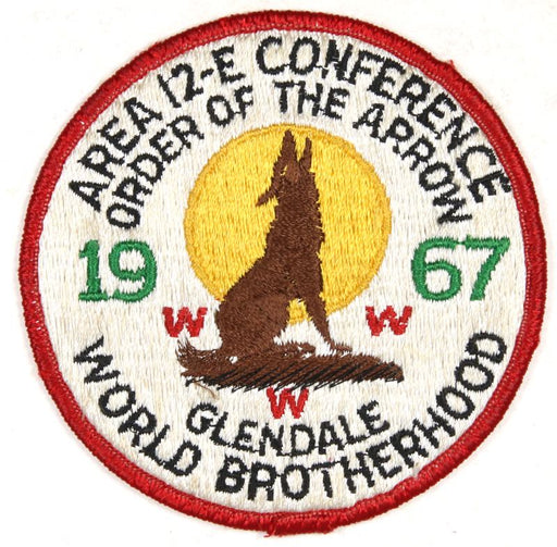1967 Area 12E Section Conference Patch