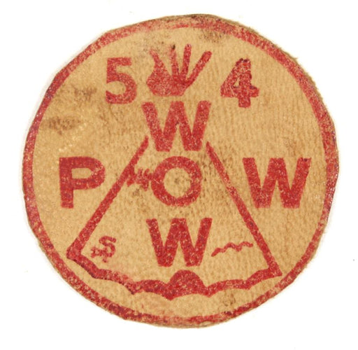 1954 Pow Wow Leather Patch 2""