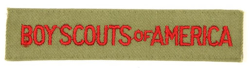 Boy Scouts of America Shirt Strip 1970s Khaki