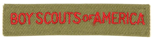 Boy Scouts of America Shirt Strip 1960s Khaki