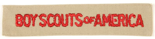 Boy Scouts of America Shirt Strip 1980s - Current Tan