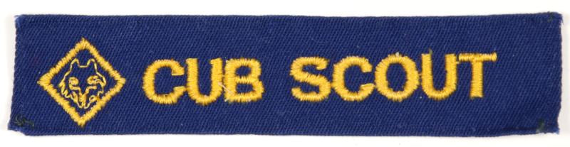 Cub Scouts 1960s Blue with Symbol Shirt Strip