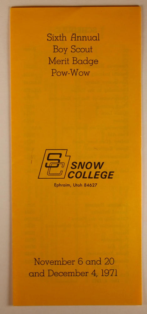 1971 Snow College Merit Badge Pow Wow Program