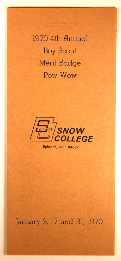 1970 Snow College Merit Badge Pow Wow Program