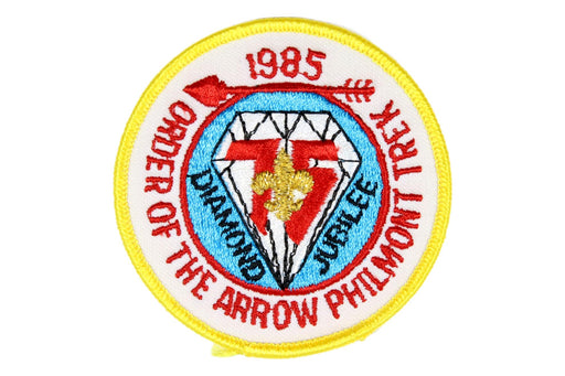 1985 Philmont Scout Ranch Diamond Jubilee Patch Light Yellow