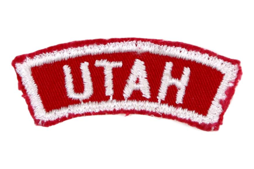 Utah Red and White State Strip