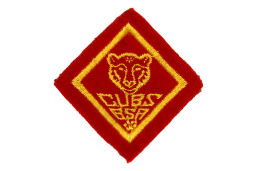 Bear Rank Patch 1930s Felt Wide Border